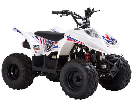Ten7 ATV 90cc Vit Metallic